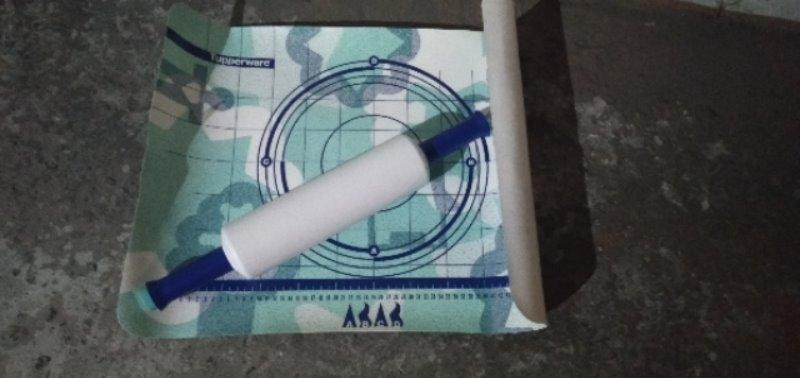 Recyclage, Récupe & Don d'objet : rouleau et plaque à patisserie tupperware