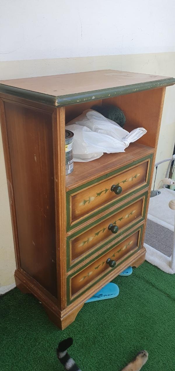 Recyclage, Récupe & Don d'objet : petite commode en bois