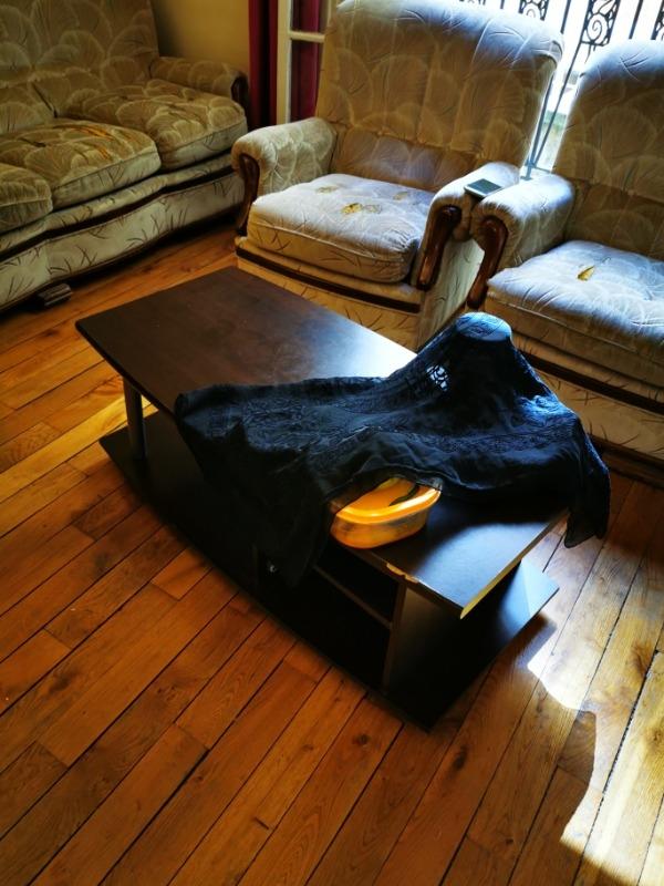 Recyclage, Récupe & Don d'objet : table salon noire