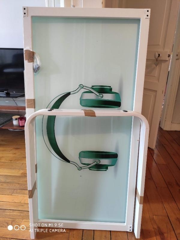 Recyclage, Récupe & Don d'objet : bureau en metal et plateau en verre