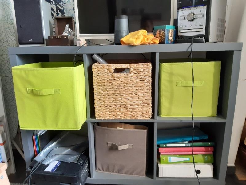 Recyclage, Récupe & Don d'objet : meuble 6 casiers gris