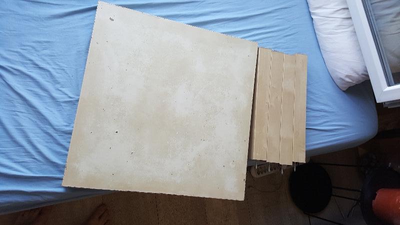Recyclage, Récupe & Don d'objet : table basse carrée ikéa
