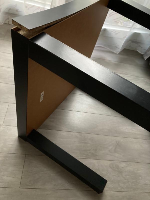 Recyclage, Récupe & Don d'objet : petite table basse noire ikea