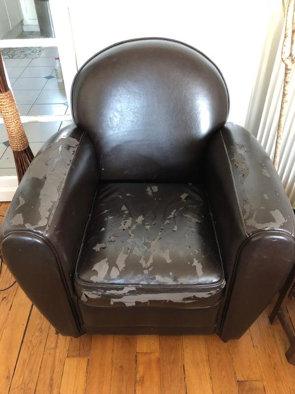 Recyclage, Récupe & Don d'objet : fauteuil club