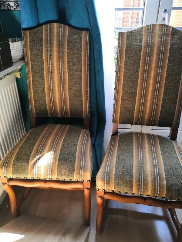 Recyclage, Récupe & Don d'objet : 6 chaises tapissieres