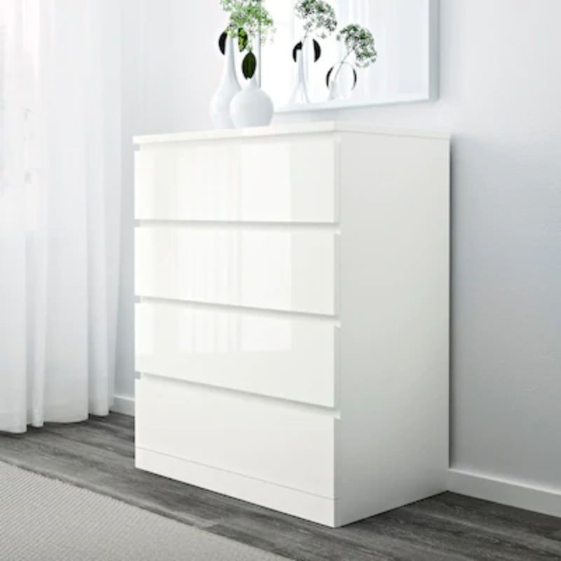 Recyclage, Récupe & Don d'objet : commode blanche ikea malm