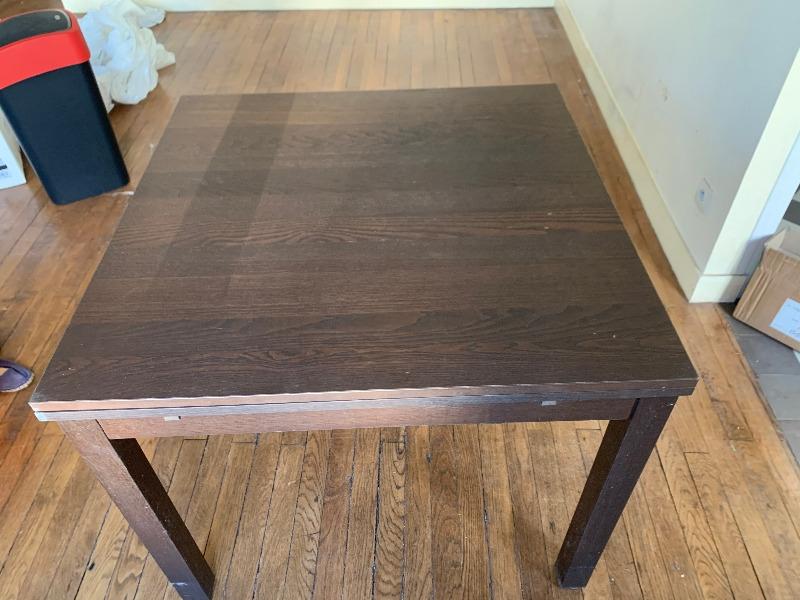 Recyclage, Récupe & Don d'objet : ikea - bjursta table coulissante - marron