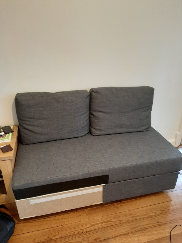 Recyclage, Récupe & Don d'objet : ikea grey chaise lounge