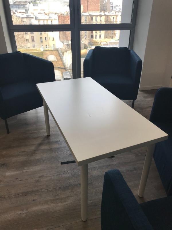 Recyclage, Récupe & Don d'objet : table blanche réglable