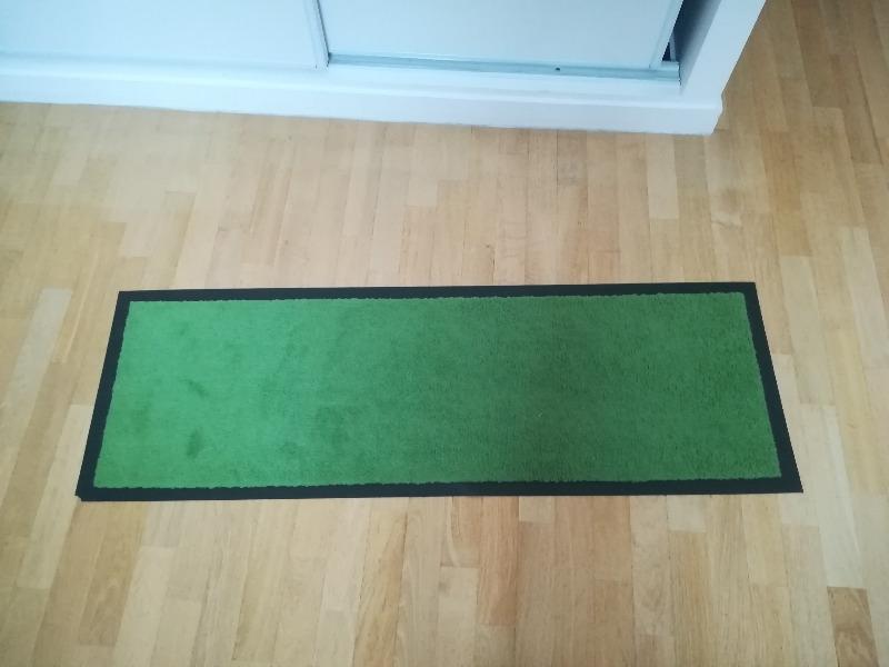 Recyclage, Récupe & Don d'objet : paillasson long vert