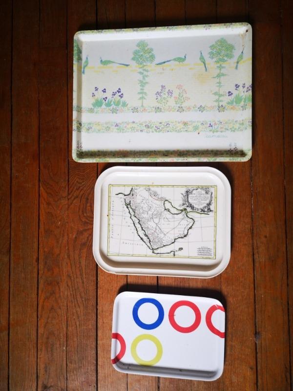 Recyclage, Récupe & Don d'objet : set de 3 plateaux