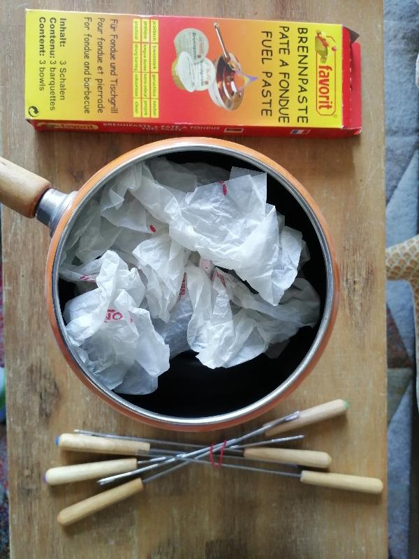 Recyclage, Récupe & Don d'objet : set à fondue 6 personnes