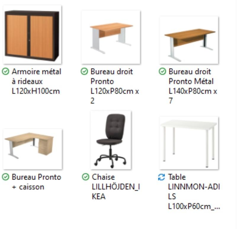 Recyclage, Récupe & Don d'objet : mobilier de bureau