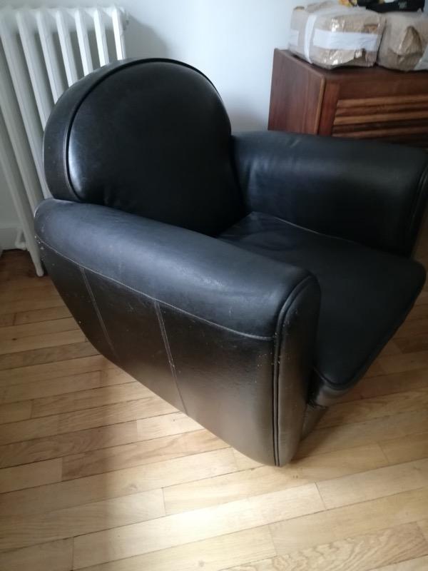 Recyclage, Récupe & Don d'objet : fauteuil club en cuir