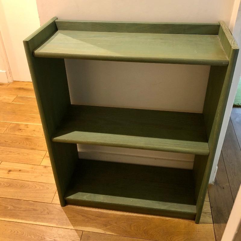 Recyclage, Récupe & Don d'objet : etagère basse verte