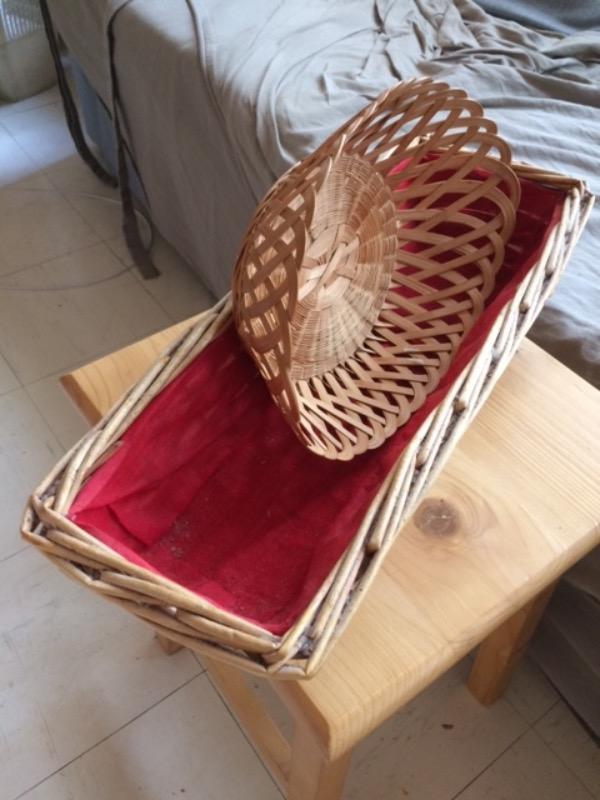 Recyclage, Récupe & Don d'objet : panières en osier/bois