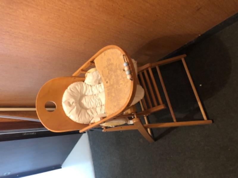 Recyclage, Récupe & Don d'objet : chaise haute enfant.