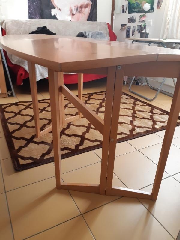 Recyclage, Récupe & Don d'objet : table d'appoint pliante en bois
