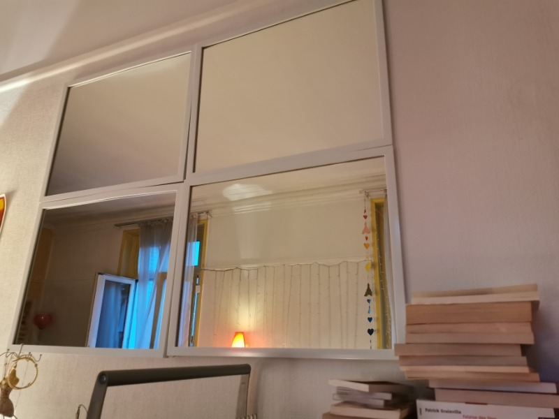 Recyclage, Récupe & Don d'objet : lot de 4 miroirs blanc