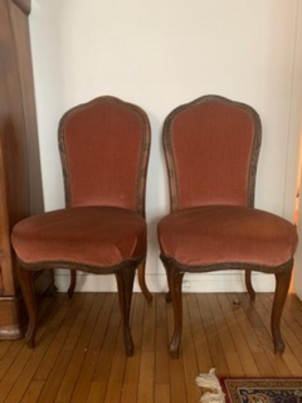 Recyclage, Récupe & Don d'objet : deux chaises style louis philippe