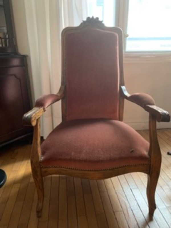 Recyclage, Récupe & Don d'objet : fauteuil style louis philippe