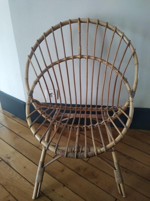 Recyclage, Récupe & Don d'objet : chaise enfant bambou