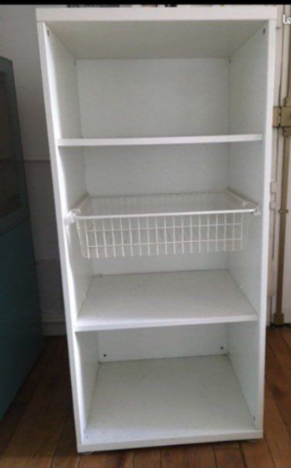 Recyclage, Récupe & Don d'objet : armoire besta blanche
