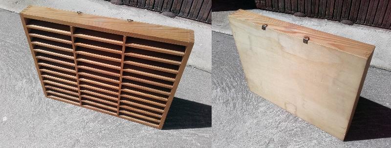 Recyclage, Récupe & Don d'objet : casier range cassettes audio en bois