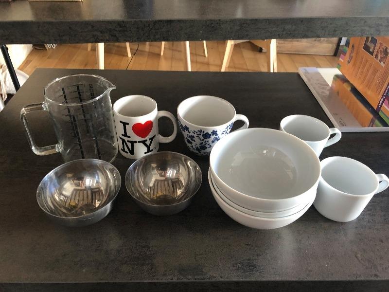 Recyclage, Récupe & Don d'objet : lot de vaisselle