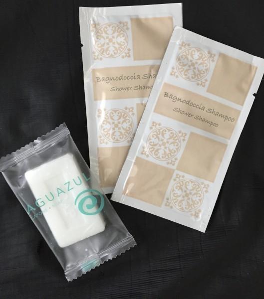 Recyclage, Récupe & Don d'objet : echantillon d'hôtel (savon, gel douche)