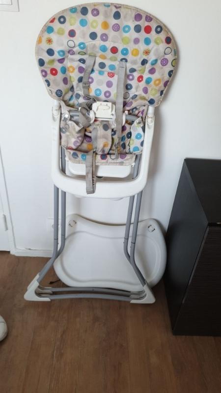 Recyclage, Récupe & Don d'objet : chaise à manger haute pour enfant