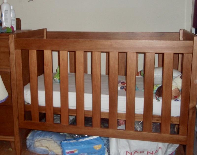 Recyclage, Récupe & Don d'objet :  lit bébé à barreaux natalys 60x120 cm