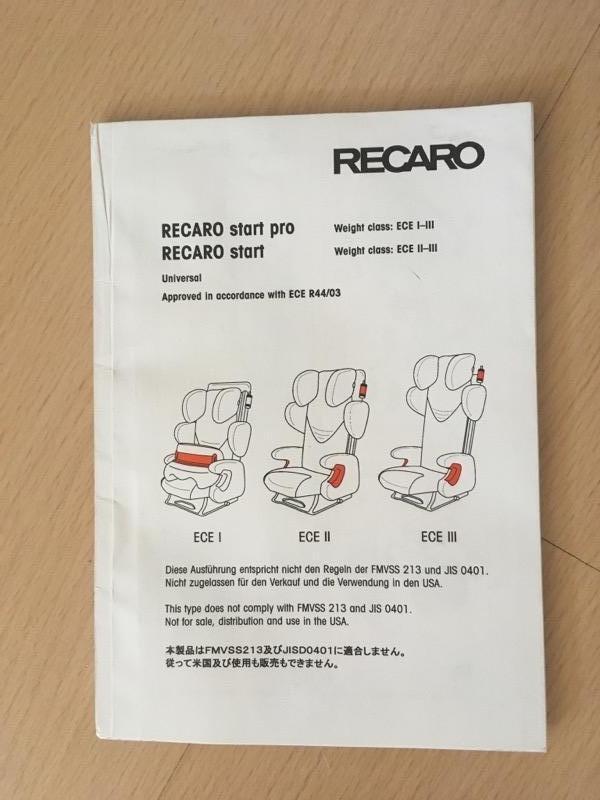 Recyclage, Récupe & Don d'objet : siège auto enfant recaro 9kg-36kg