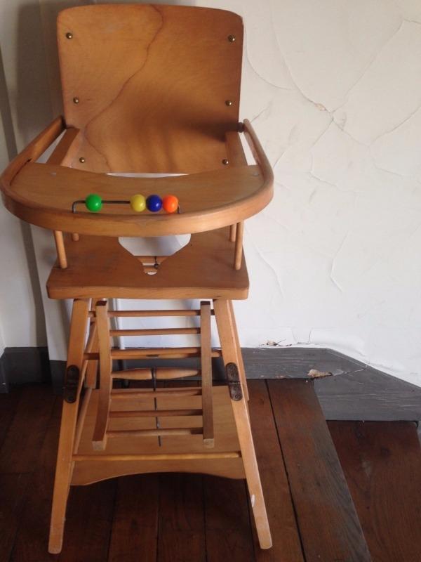 Recyclage, Récupe & Don d'objet : chaise haute (pour bébé)