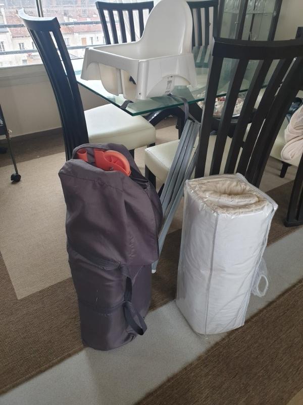 Recyclage, Récupe & Don d'objet : lit parapluie bébé + matelas