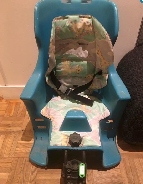Recyclage, Récupe & Don d'objet : siège de vélo pour enfant