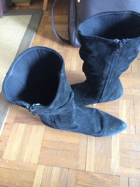 Recyclage, Récupe & Don d'objet : bottes basses noires pointure 39