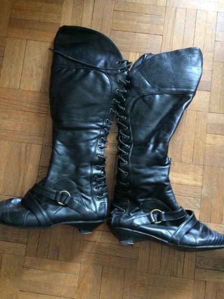 Recyclage, Récupe & Don d'objet : bottes noires pointure 40