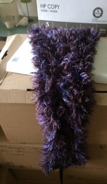 Recyclage, Récupe & Don d'objet : petite écharpe ton bleu et violet enfant / ado