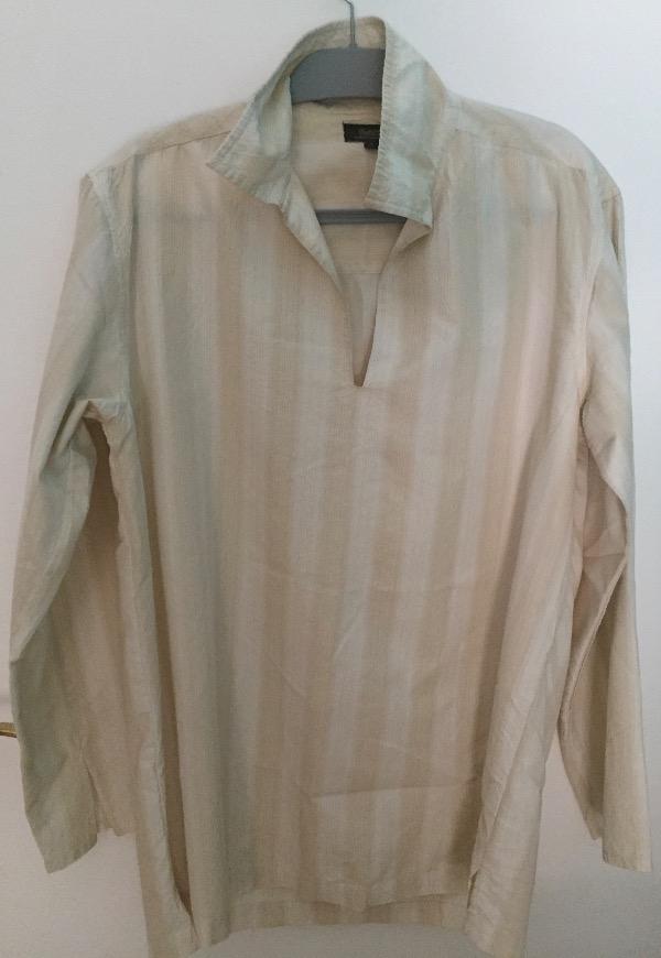 Recyclage, Récupe & Don d'objet : chemise/tunique homme écrue taille m