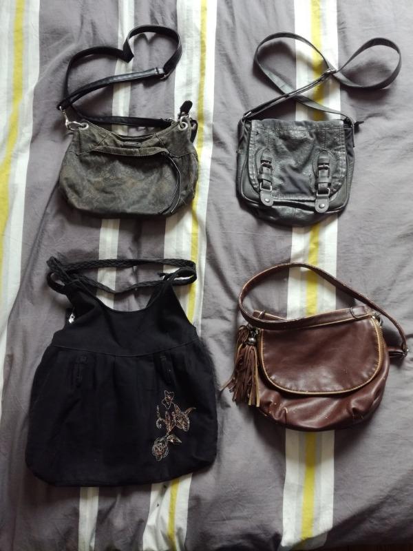 Recyclage, Récupe & Don d'objet : sacs à main abîmés pour seconde vie