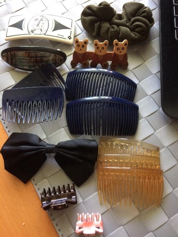 Recyclage, Récupe & Don d'objet : lot d'accessoires cheveux