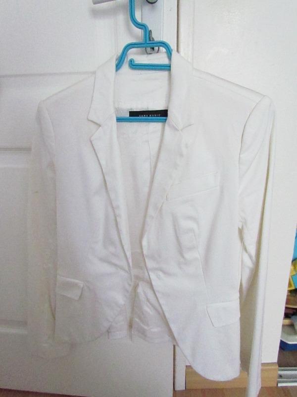 Recyclage, Récupe & Don d'objet : veste blanche zara