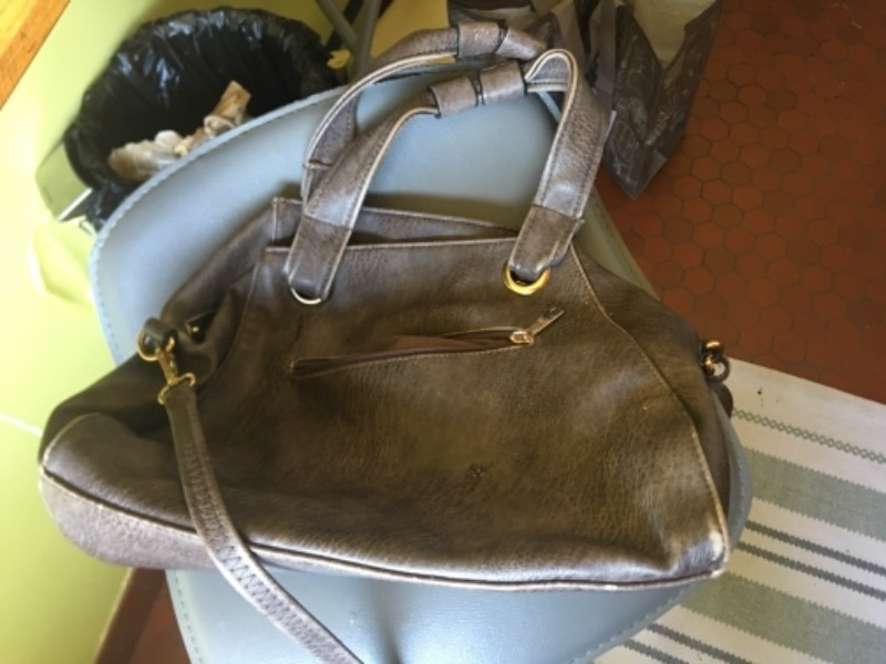 Recyclage, Récupe & Don d'objet : sac à main marron