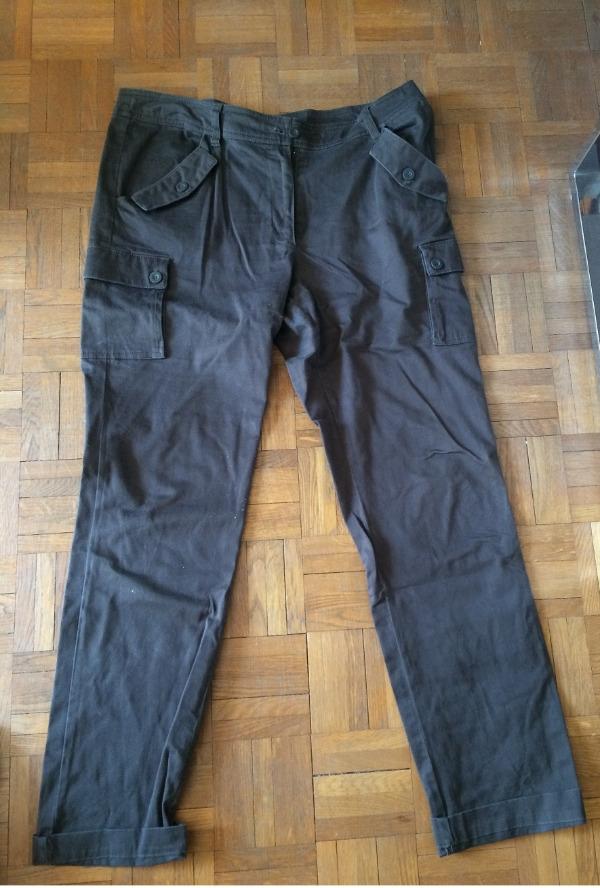 Recyclage, Récupe & Don d'objet : pantalon 3 suisses taille 44 marron-kaki