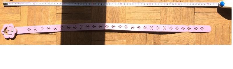 Recyclage, Récupe & Don d'objet : ceinture enfant rose long 70cm