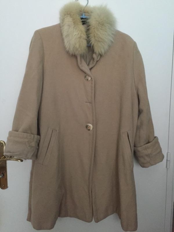 Recyclage, Récupe & Don d'objet : manteau en laine taille 42