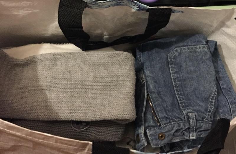 Recyclage, Récupe & Don d'objet : 1 sac de vêtements enfants 2 ans