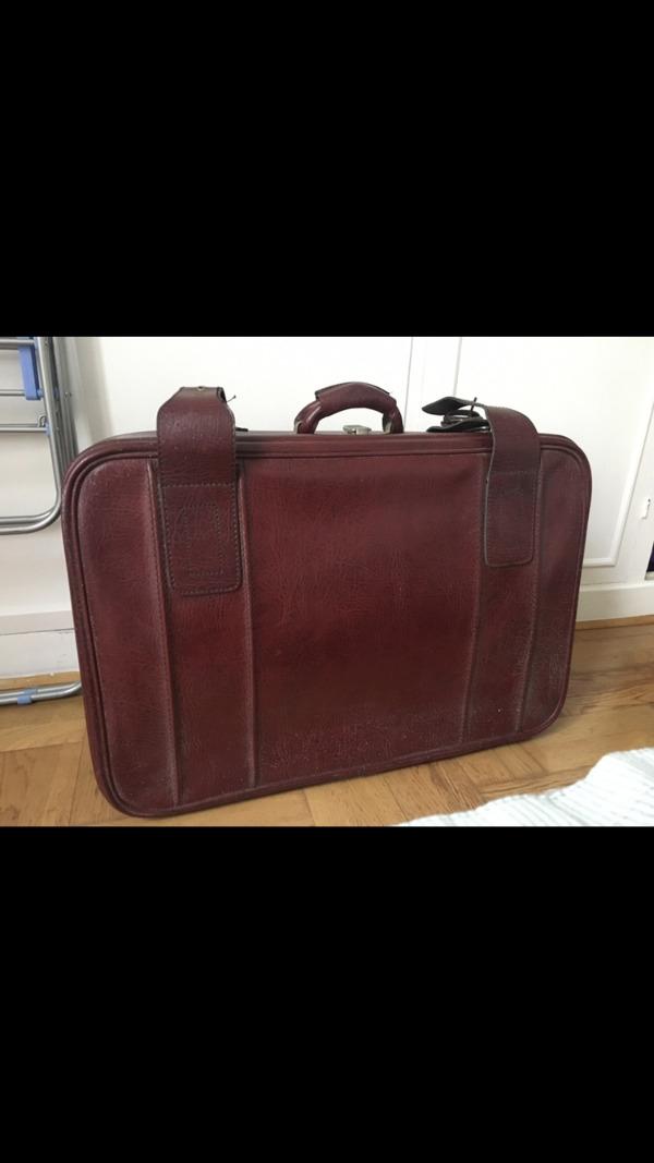 Recyclage, Récupe & Don d'objet : valise vintage en cuir