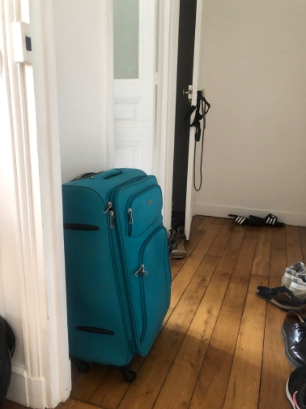 Recyclage, Récupe & Don d'objet : valise en tissu